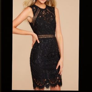 Red Dress Boutique black lace dress